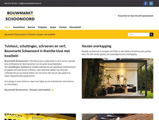 Bouwmarkt Schoonoord website.